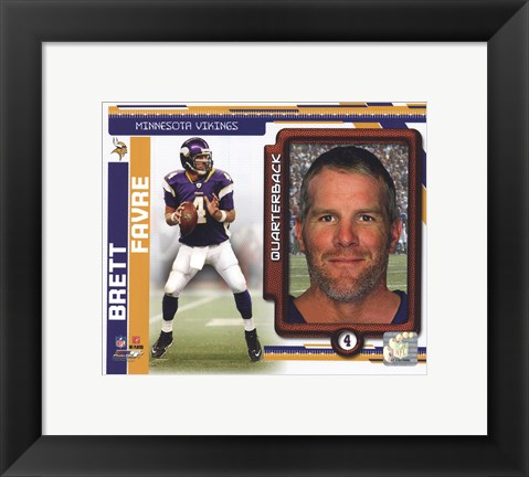 Framed Brett Favre 2010 Studio Plus Print