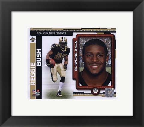 Framed Reggie Bush 2010 Studio Plus Print