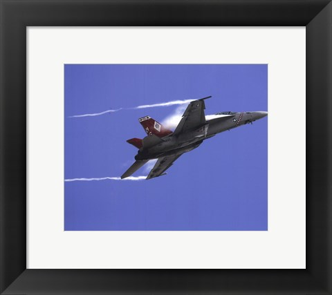 Framed FA-18 F Super Hornet United States Navy Print