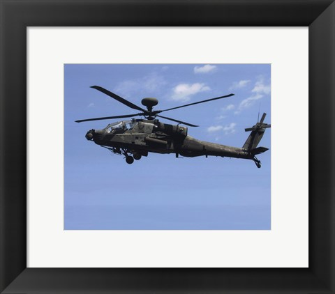 Framed AH-64 Apache US Army photo Print