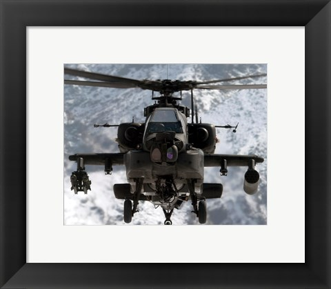 Framed AH-64 Apache United States Army Print