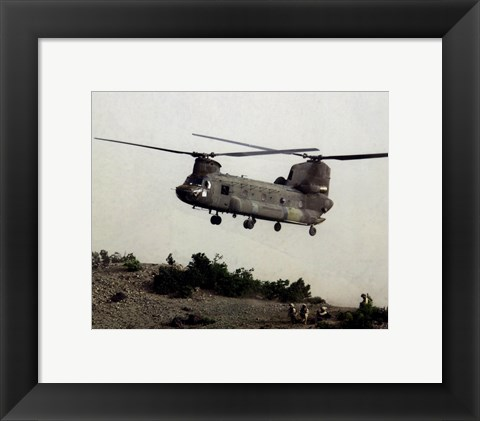 Framed CH-47 Chinook United States Army Print