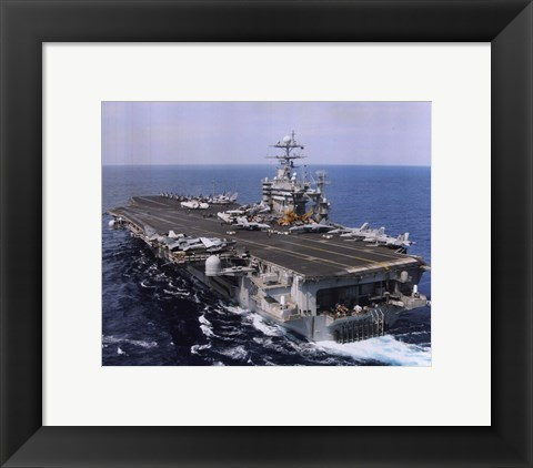 Framed USS Harry S. Truman (CVN-75) United States Navy Print