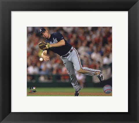 Framed Chipper Jones 2010 Action Print