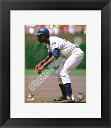 Framed Ernie Banks 1969 Action Print