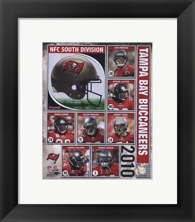 Framed 2010 Tampa Bay Buccaneers Team Composite Print