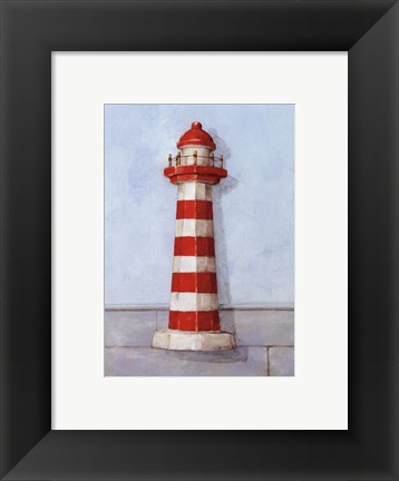 Framed Red And White Light Print