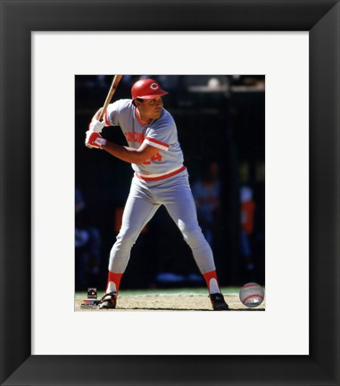 Framed Tony Perez 1985 Action Print
