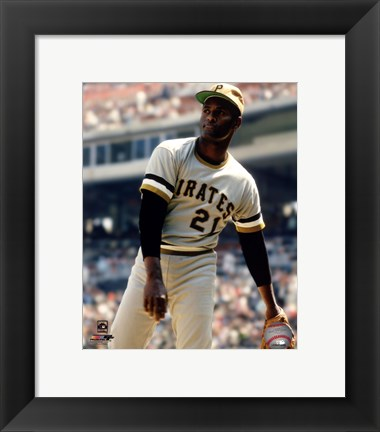 Framed Roberto Clemente Action Print