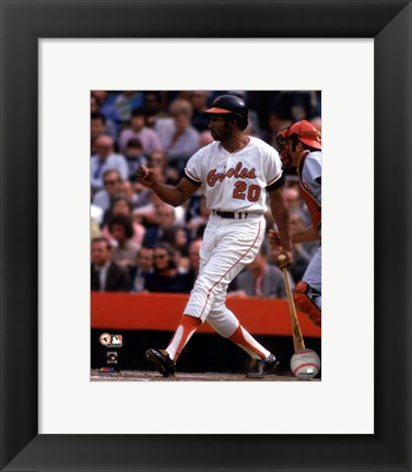 Framed Frank Robinson 1970 World Series Action Print