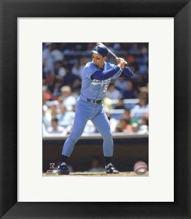Framed George Brett 1990 Action Print