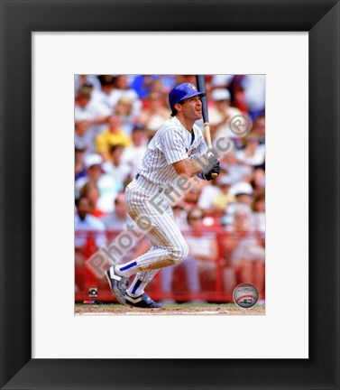 Framed Paul Molitor 1990 Action Print
