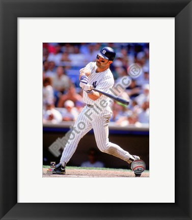 Framed Don Mattingly 1995 Action Print