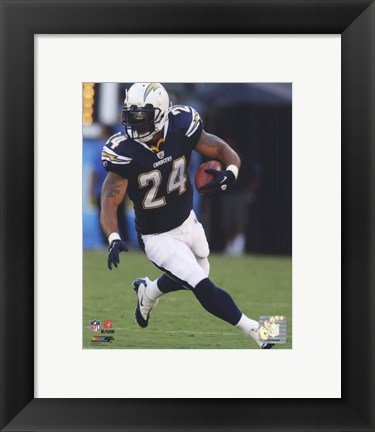 Framed Ryan Mathews 2010 Action Print