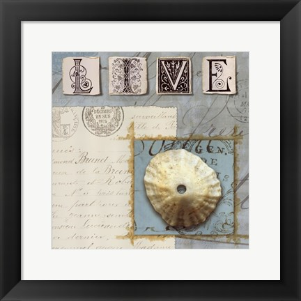 Framed Beach Journal III Print