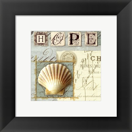 Framed Beach Journal IV Print