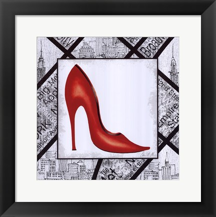 Framed City Shoes I Print