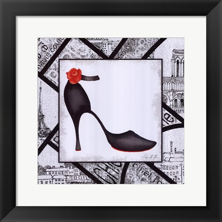 Framed City Shoes III Print