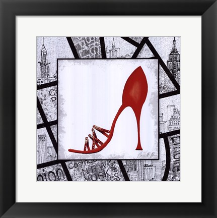 Framed City Shoes IV Print