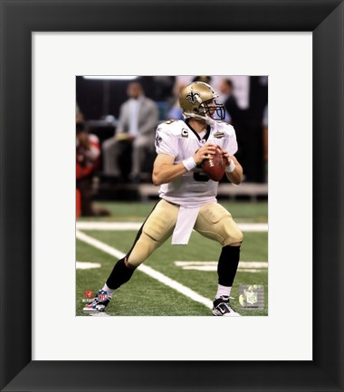 Framed Drew Brees 2010 Action Print