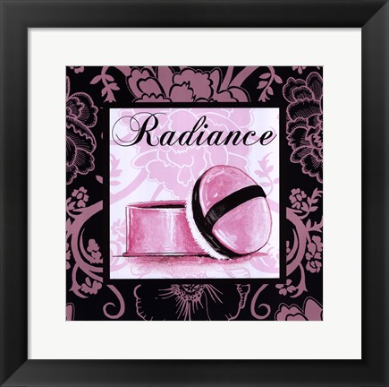 Framed Fashion Pink Radiance Print