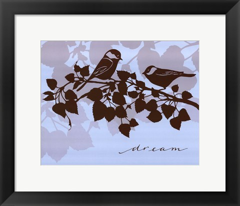 Framed Chickadee Dream - mini Print