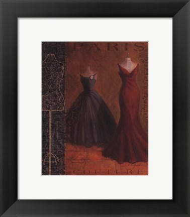 Framed Couture I Print