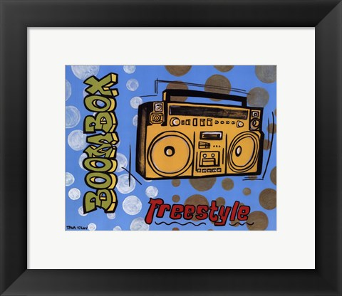 Framed Boom Box Print