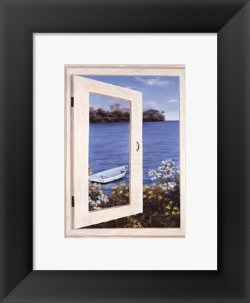 Framed Bay Window Vista I Print