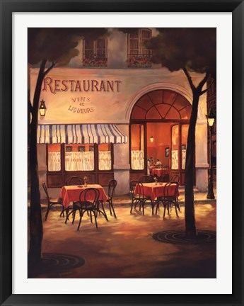 Framed Evening Restaurant Print