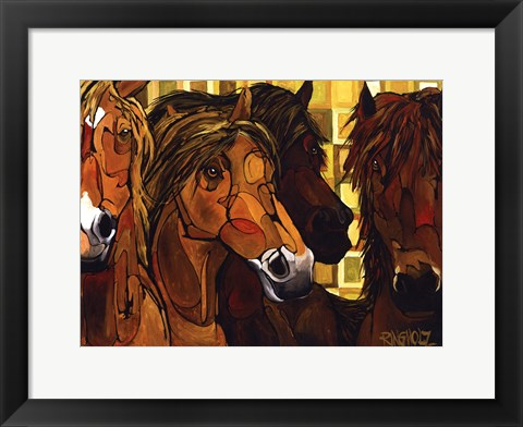 Framed Social Gathering Print