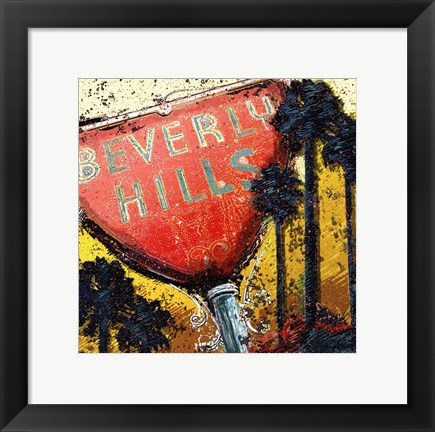 Framed Beverly Hills Print