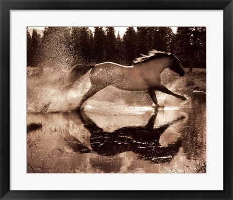 Framed Running on Water III Print