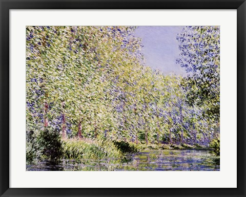 Framed Epte River near Giverny Print