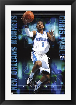 Framed Hornets - C Paul 09 Print