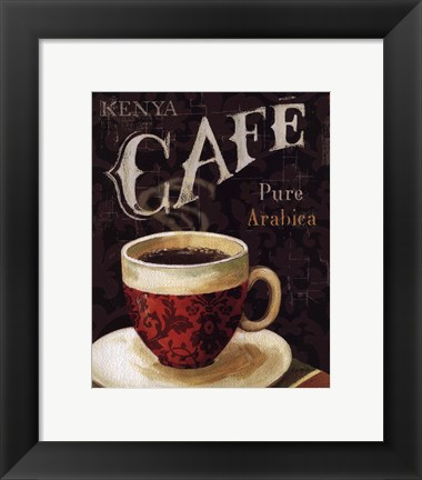 Framed Today's Coffee I Print
