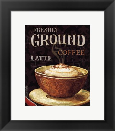 Framed Today's Coffee II Print