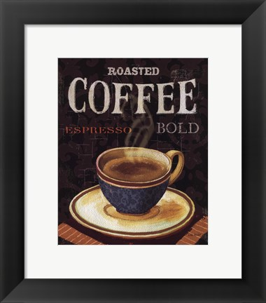 Framed Today's Coffee IV Print