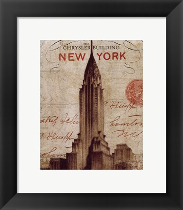 Framed Letter from New York Print