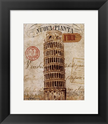 Framed Letter from Pisa Print