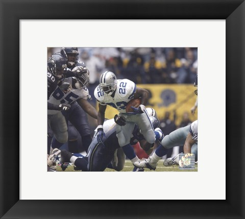 Framed Emmitt Smith All-Time Rushing Yard Leader - #1 Action Print