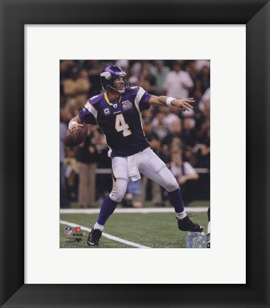 Framed Brett Favre 2010 Action Print