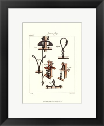 Framed Nautical Details VI Print