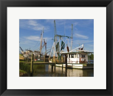 Framed Small Safe Harbor I Print