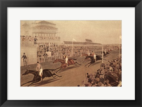 Framed Grand Steeple Chase IV Print