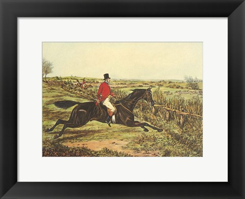 Framed English Hunt III Print
