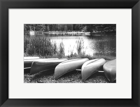 Framed Lake Living I Print