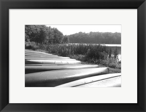 Framed Lake Living III Print