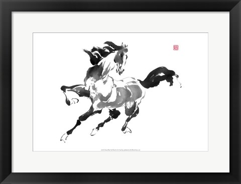 Framed Runs with the Wind Print