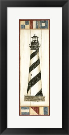 Framed Americana Lighthouse II Print
